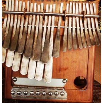 22 Key mbira - The African thump piano made from sofa springs,bicycle sporks (recyable materials