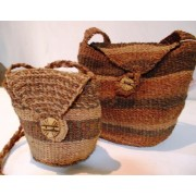 Bark fiber fashion bags