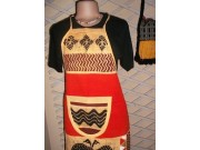 Batik Aprons-100% Cotton from Zimbabwe handprinted into various African designs by Artisans from Harare